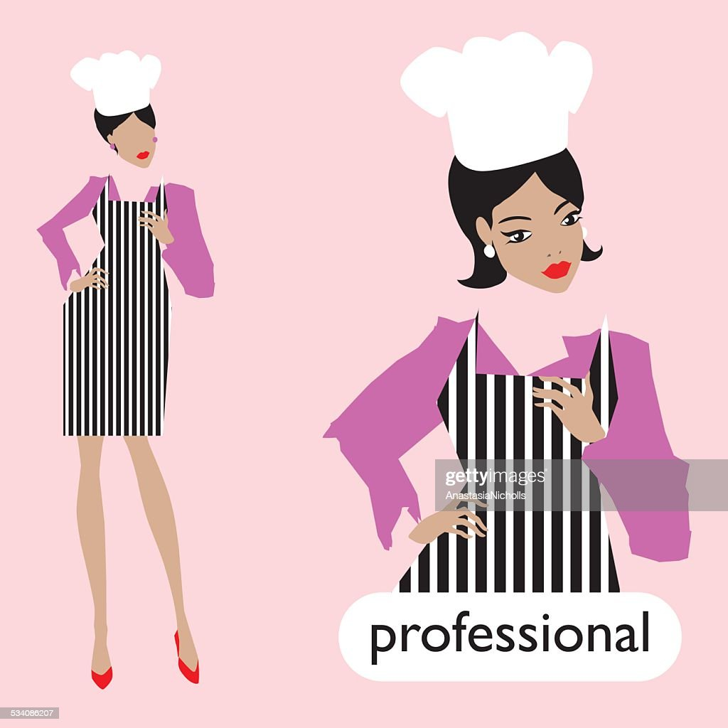 Professionl, female chef set