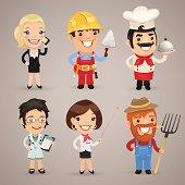 Professions Cartoon Characters Set1.2