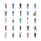 Professions Flat Icons Design