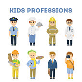 Professions for children.