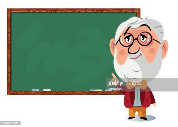 professor bei blackboard - klassenzimmer stock-grafiken, -clipart, -cartoons und -symbole