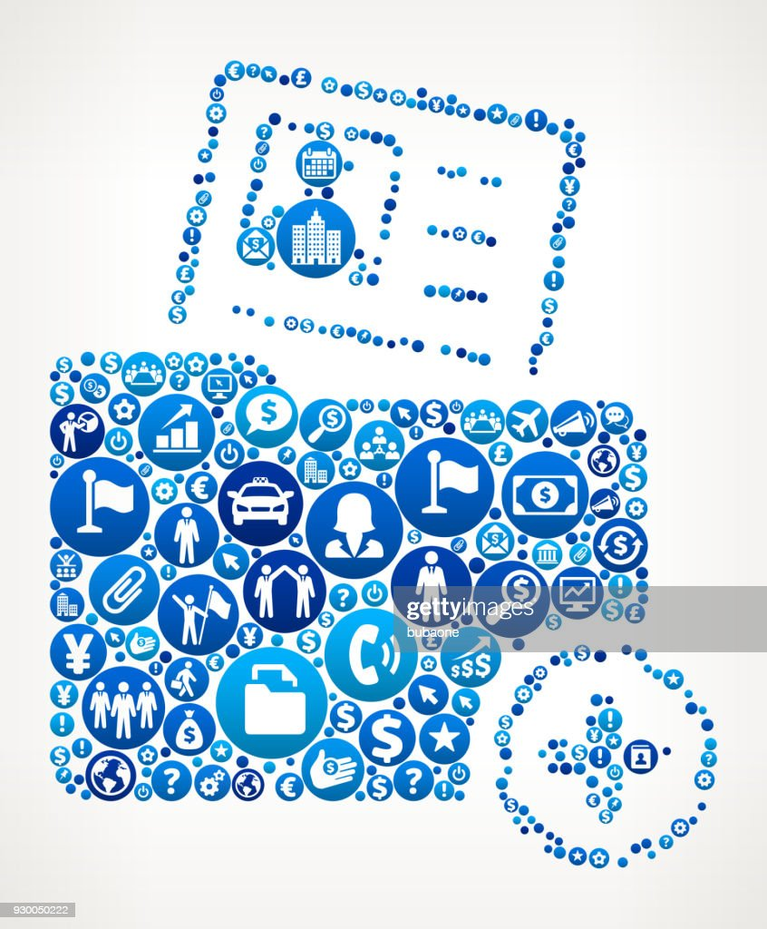 Profile Folder And Plus Sign Business And Finance Blue Icon Pattern