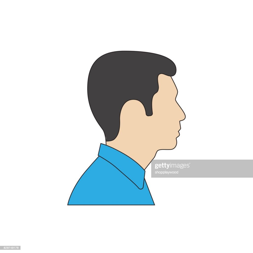 profile man flat