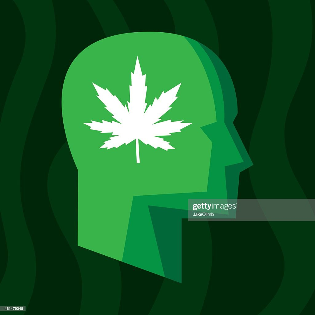 Profile Marijuana Stylized : stock illustration