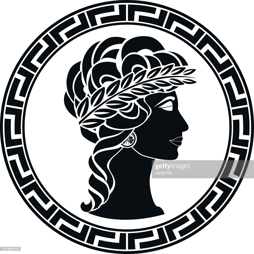 profile of ancient woman