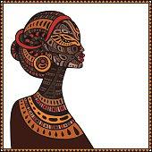 Profile of beautiful African woman