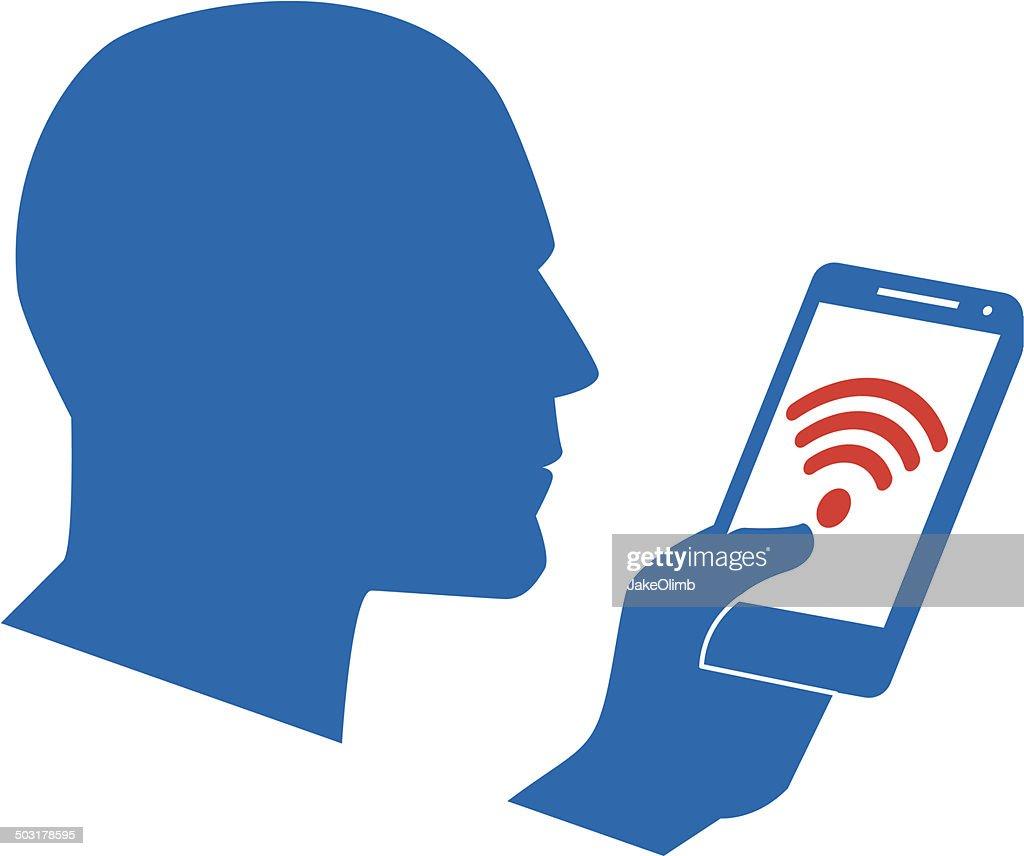 Profile Smartphone Wifi Icon