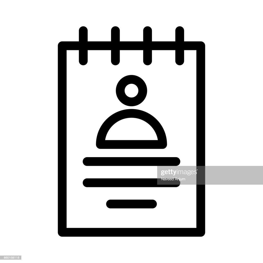 profile Vector Thin Line Icon