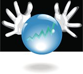 Profit Future Crystal Ball In Business People Hands