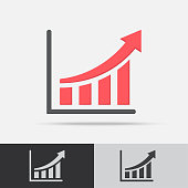 Profit Graph Vector Icon Flat Design