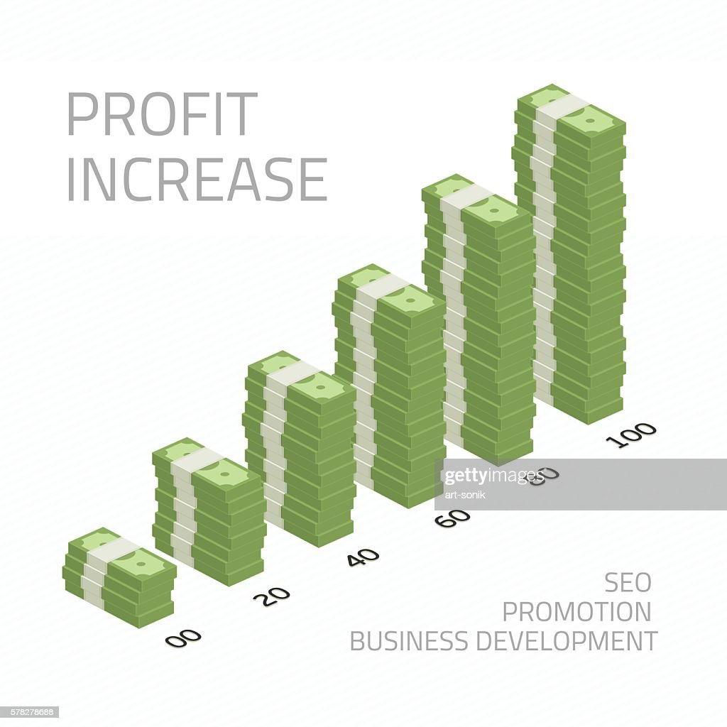 Profit increase illustration money