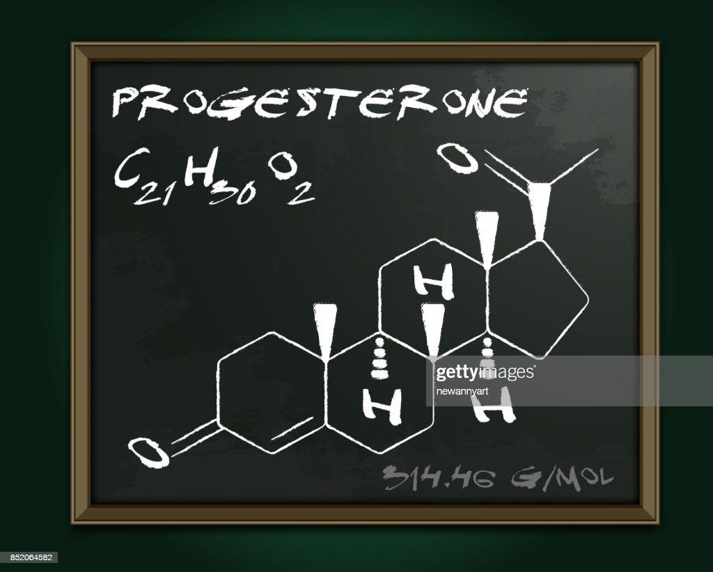 Progesterone molecule image