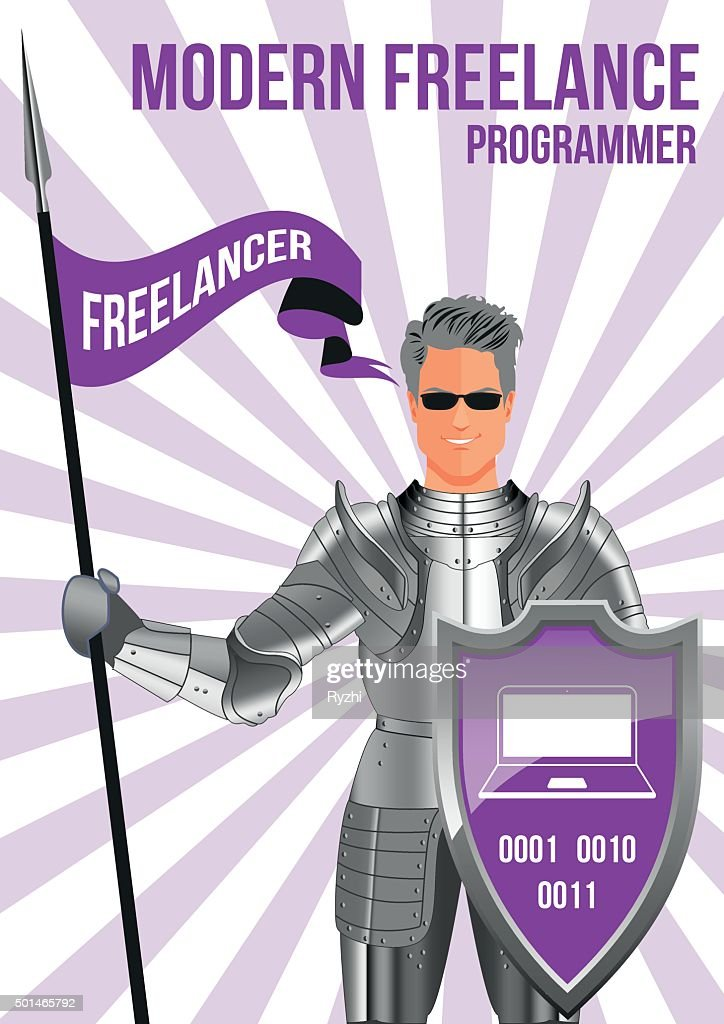 Programmer freelancer design concept