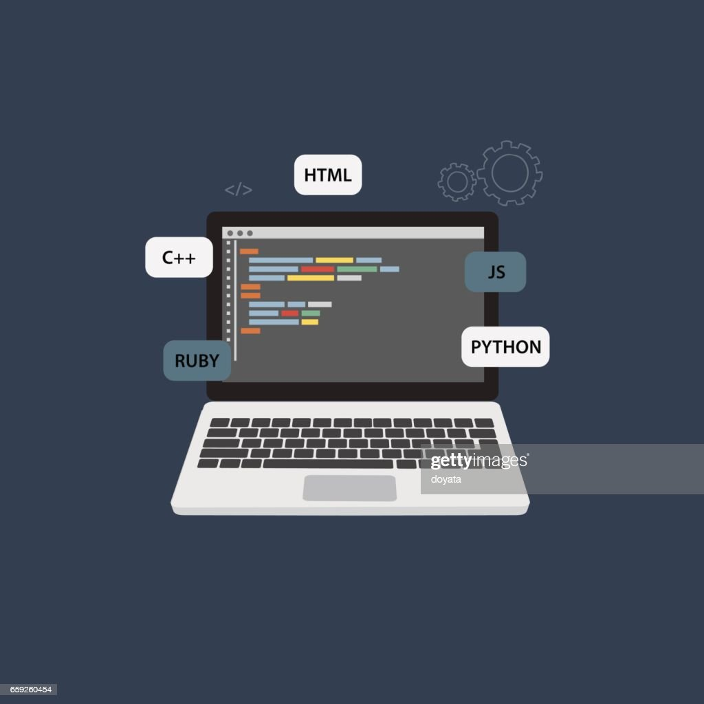 Programming and Coding Illustration