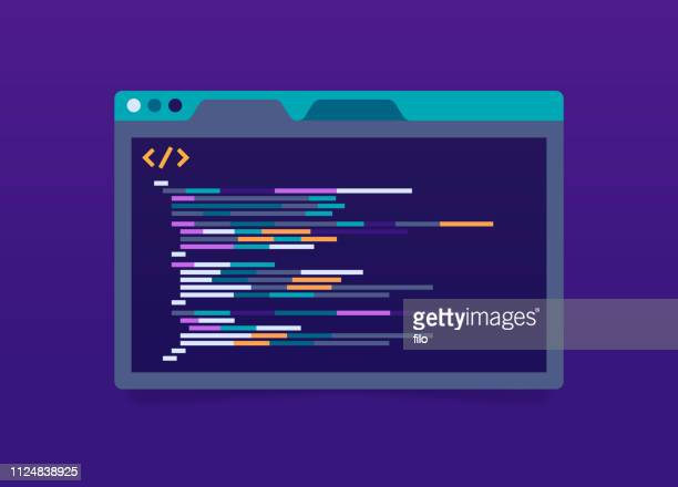 programming code application window - web page stock illustrations