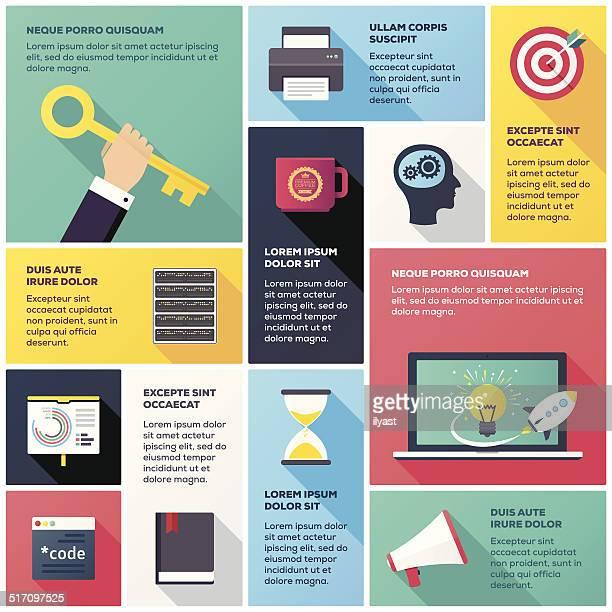 ilustrações, clipart, desenhos animados e ícones de programação & desenvolvimento infográfico - www