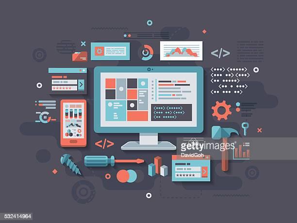 Programming Flat Design Concept