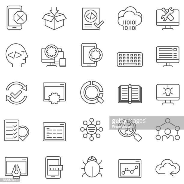 programming icons - customised stock illustrations