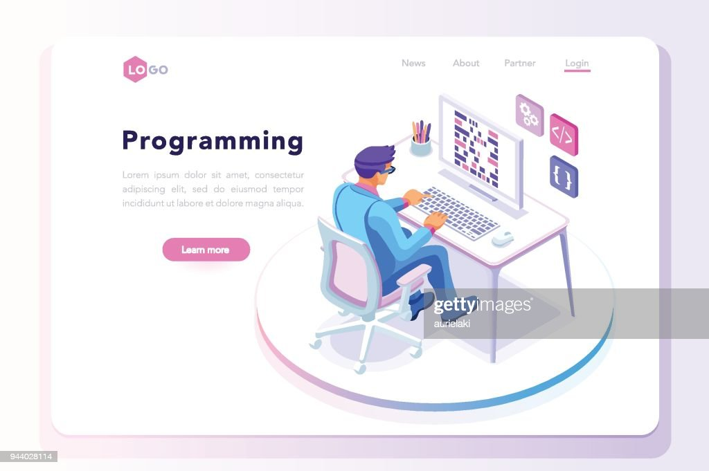 Programming landing page template