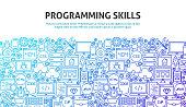 Programming Skills Concept