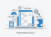 Programming skills vector illustration