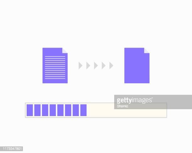fortschrittsleiste beim kopieren von dateien - bartresen stock-grafiken, -clipart, -cartoons und -symbole