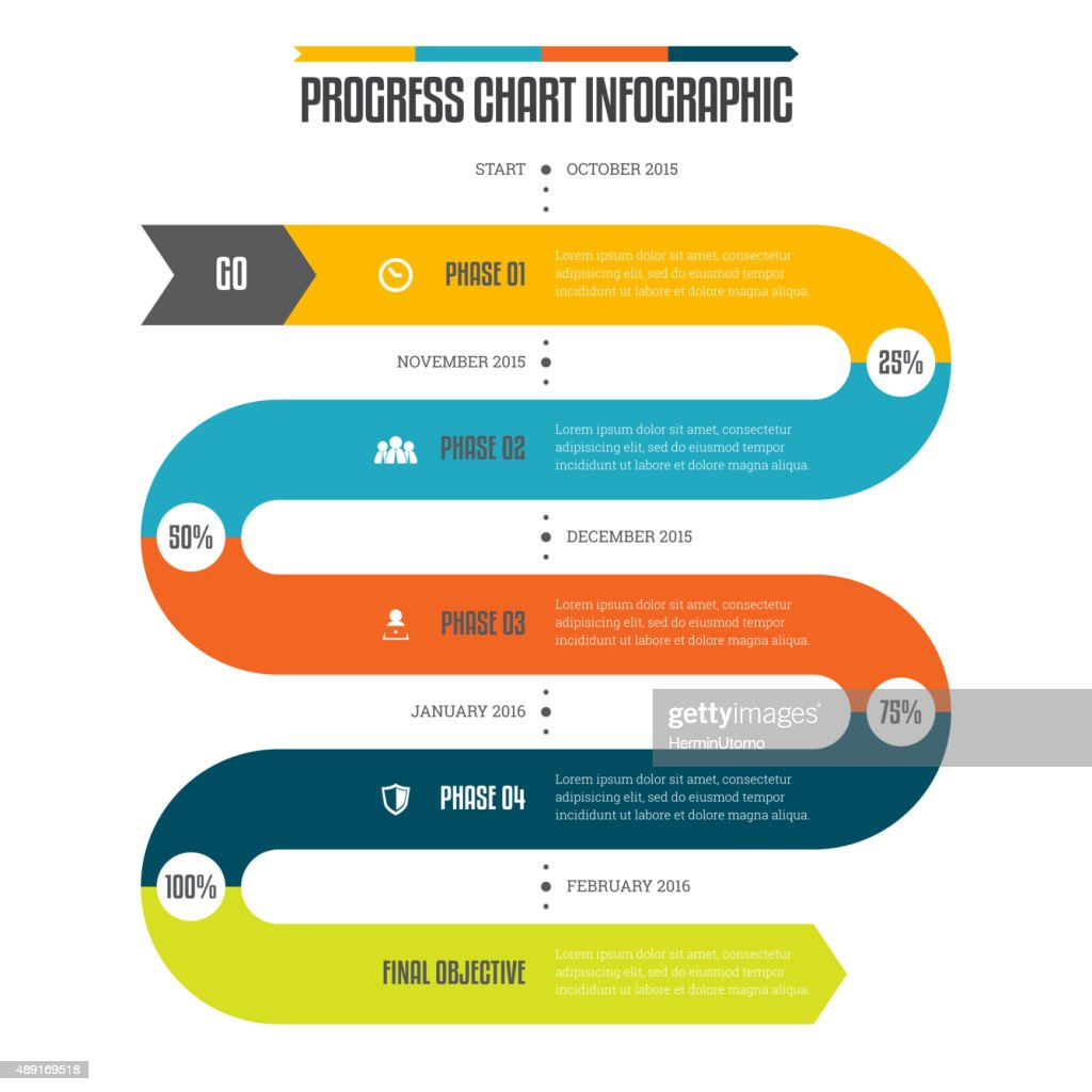 Progress Chart Infographic