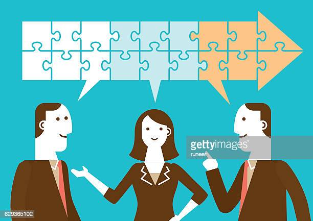 Progressive Business Meeting (Speech Bubbles and Puzzles)   New Business