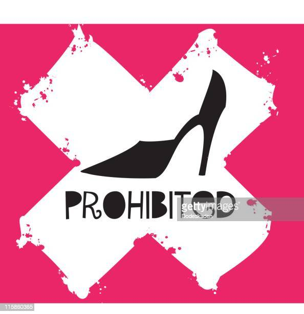 prohibited high heels - fighting stance stock illustrations, clip art, cartoons, & icons