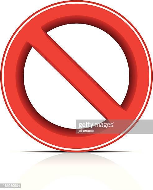illustrations, cliparts, dessins animés et icônes de panneau interdit/pas - panneau sens interdit