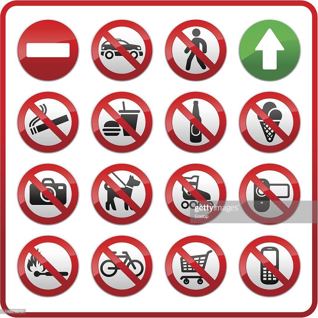 Prohibited set symbols.