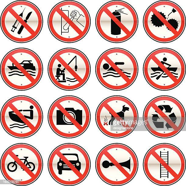Prohibited Signs Set 2