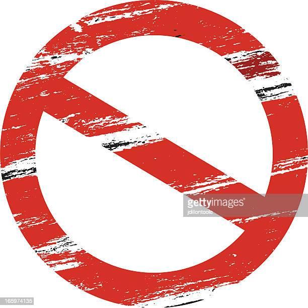 prohibited symbol | grunge - forbidden stock illustrations