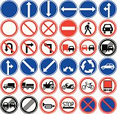 Prohibited traffic signs.