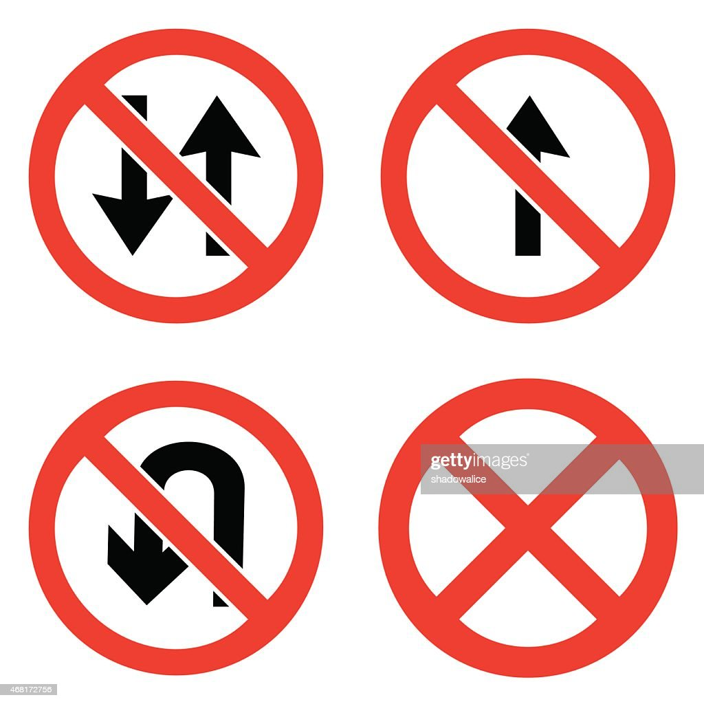 Prohibition signs icons set great for any use. Vector EPS10.
