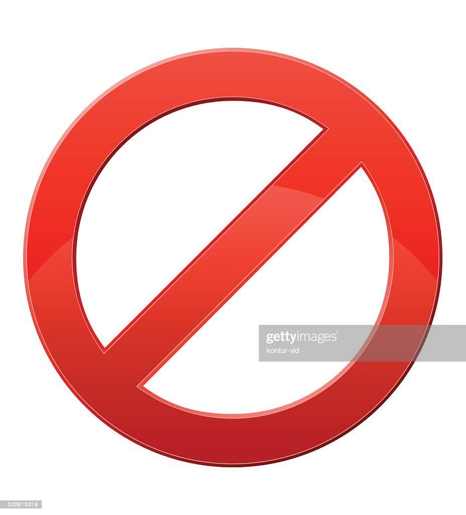 prohibitory sign vector illustration