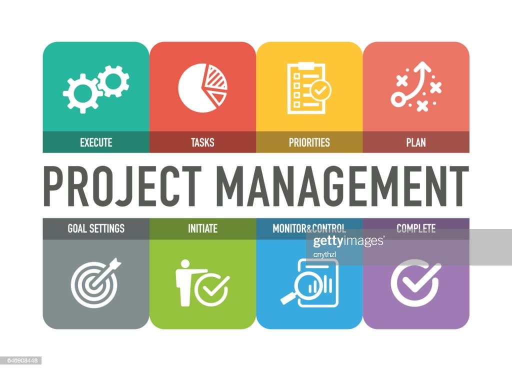 Conjunto de ícones de gerenciamento de projeto : Ilustração