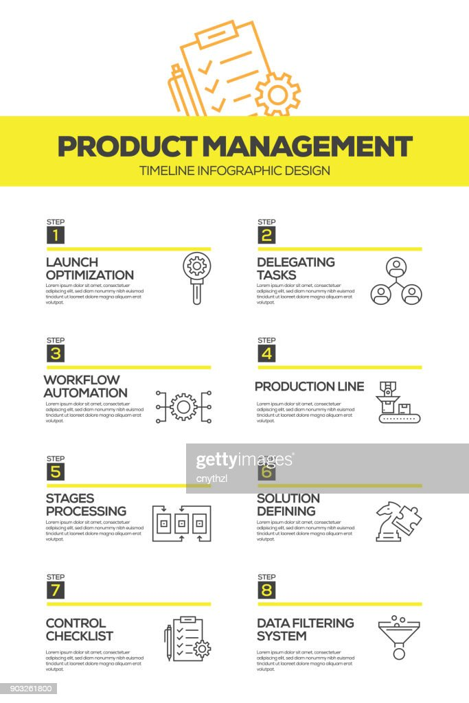 Project Management Infographic Design Template Vector Art | Getty Images