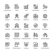 Project Management Line Vector Icons Set 12