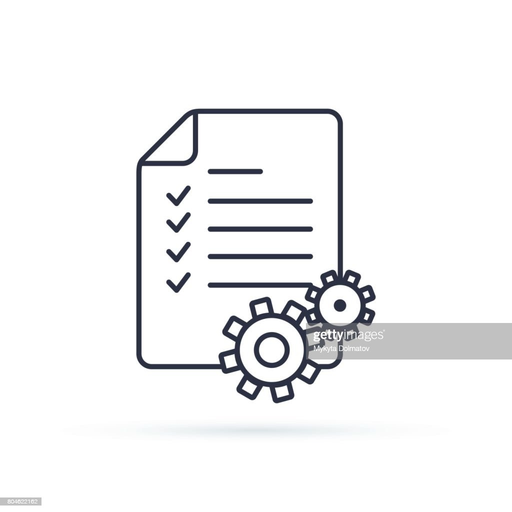 Project Management Vector Line Icon. clipboard icon. Illustration concepts for business planning, project management.