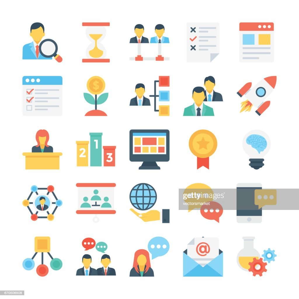 Project Managment Colored Vector Icon 4