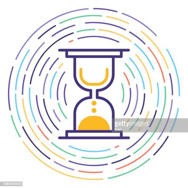 ilustrações, clipart, desenhos animados e ícones de projeto linha icon ilustração de agendamento - prazo