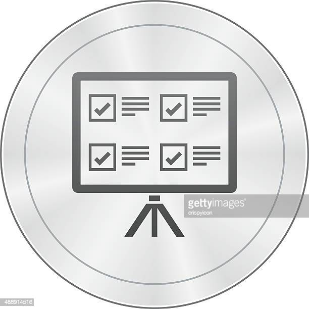 Projection Screen icon on a round button.