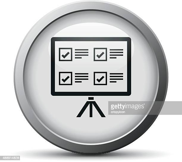 Projection Screen icon on a silver button.