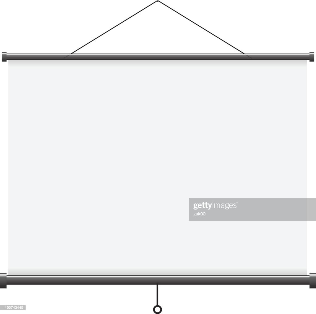 Projection screen - Illustration