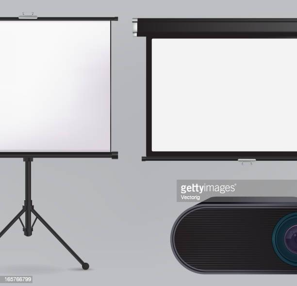 Projector and Projection screen