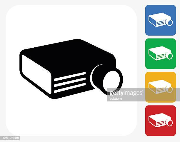 Projector Icon Flat Graphic Design