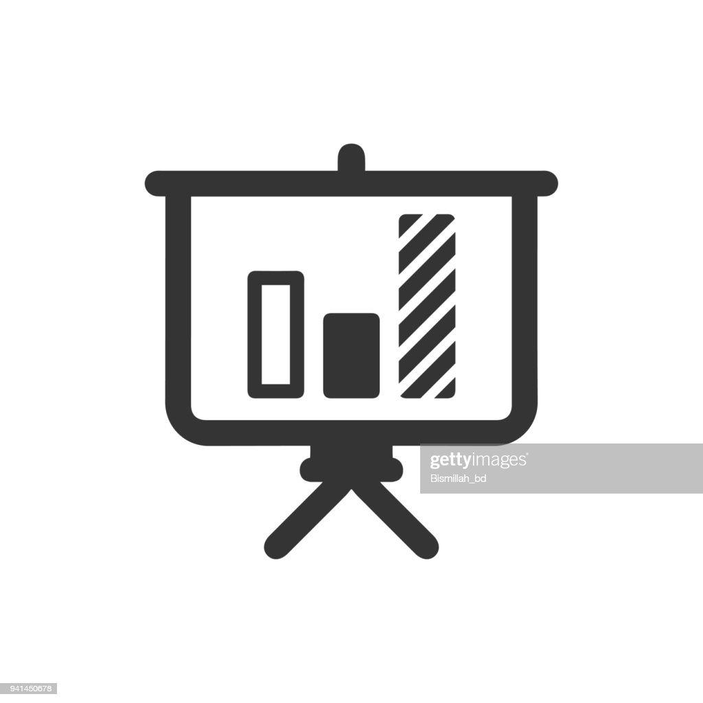 Projector Screen & Graph Icon