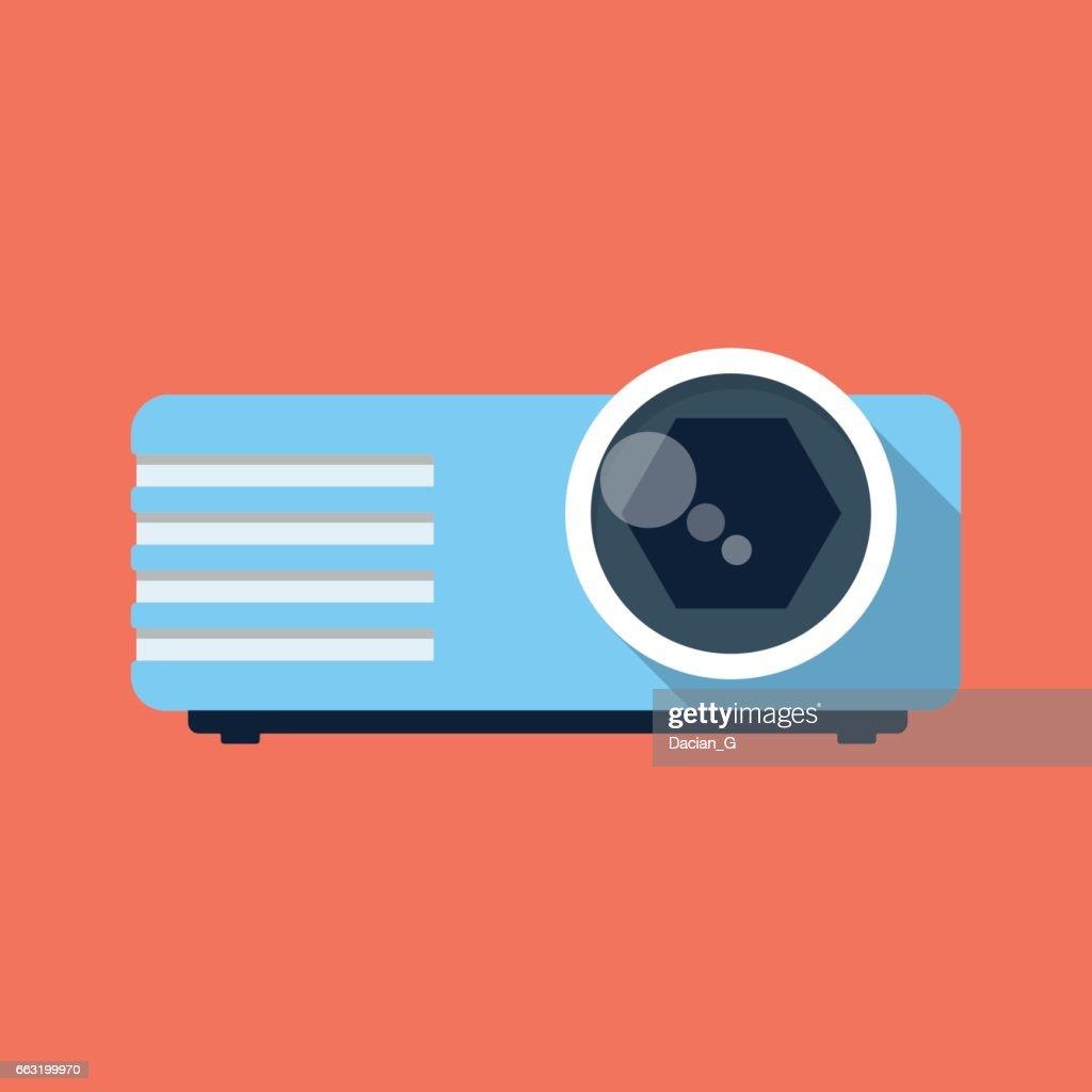 Projector vector icon.