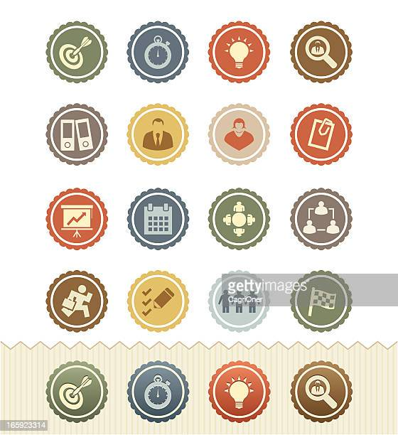 Projects and Business Icons : Vintage Badge Series